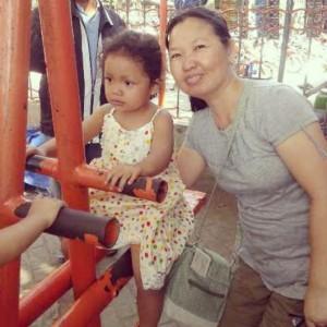foto bareng tante dari Semarang yang tinggal di Jakarta